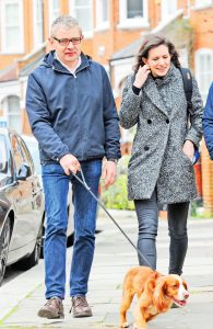 EXC - Rowan Atkinson out and alive with his girlfriend Louise Ford.