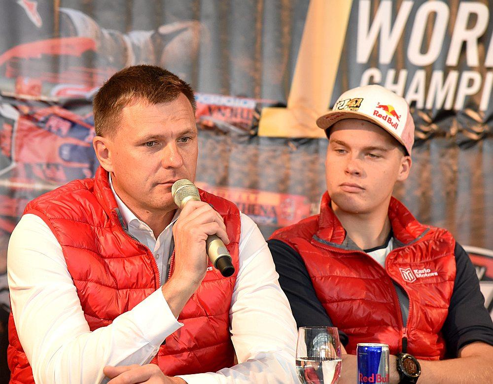 Kristers Serģis (pa kreisi) un Pauls Jonass.