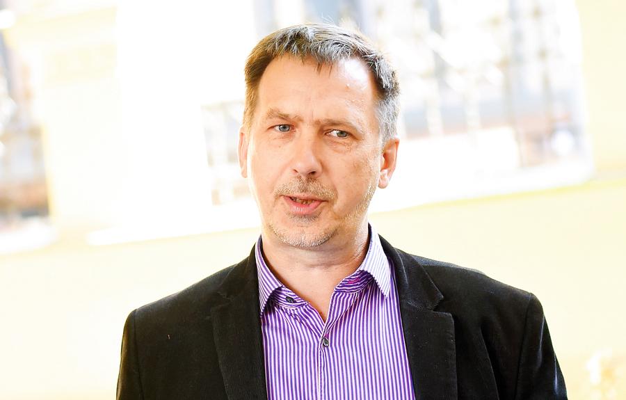 """Invalīdu un viņu draugu apvienības """"Apeirons"""" valdes priekšsēdētājs Ivars Balodis."""