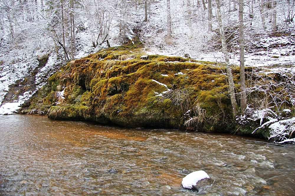 Raunas Staburags ir lielākais avotu kaļķakmens veidojums Latvijā, kas saglabājies, cilvēka nepārveidots.