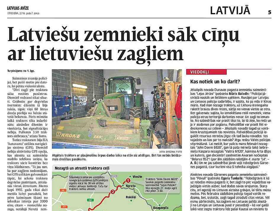 """""""Latvijas Avīze"""" jau pirms pusotra gada vērsa amatpersonu uzmanību uz problēmām ar zagļiem pierobežā."""