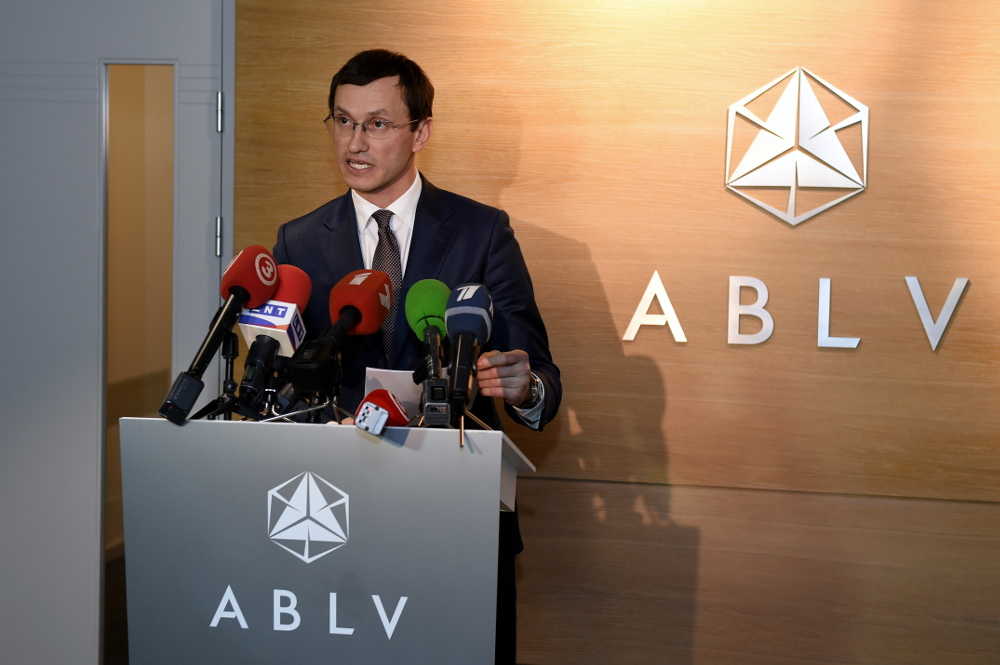 """""""ABLV Bank"""" bankas izpilddirektora vietnieks Vadims Reinfelds uzsvēra, ka banka atbalsta ASV cīņu pret naudas atmazgāšanu, terorisma finansēšanu un sankciju apiešanu, 2018.gada februārī."""