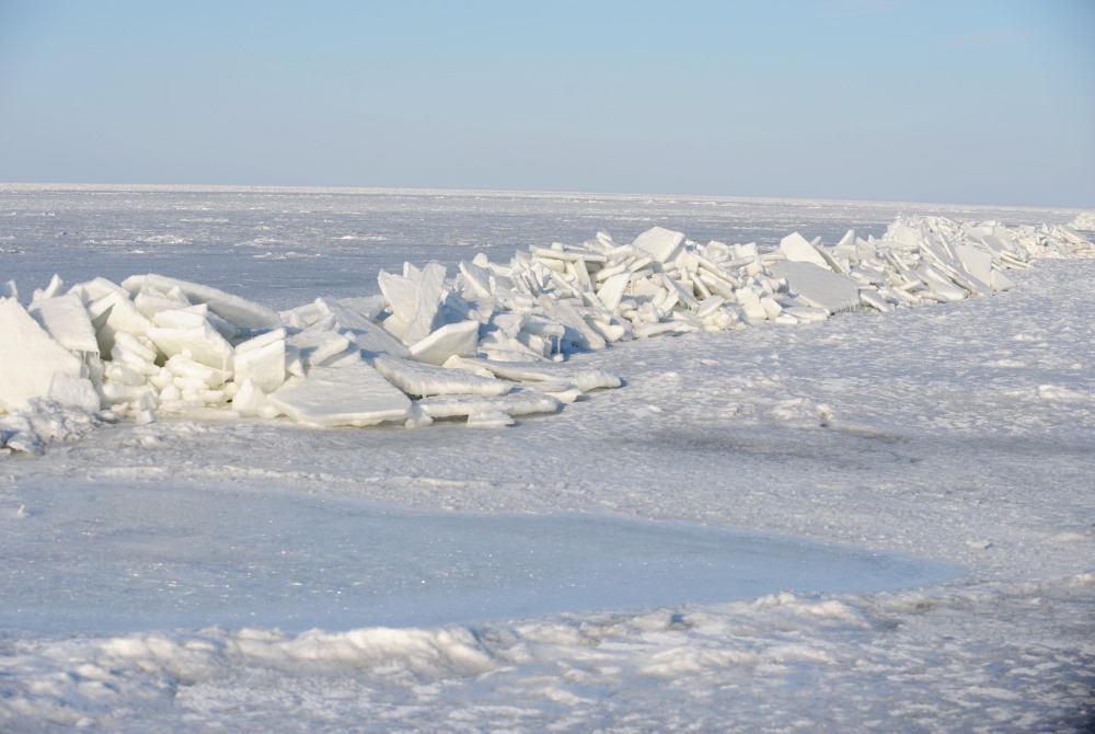 Rīgas līcis ziemā.