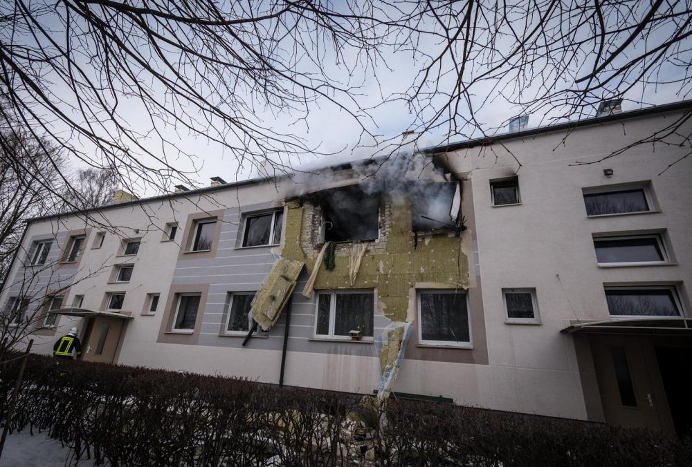 Nīcā gāzes eksplozijā cieta ēka un cilvēki, 18.02.2018.