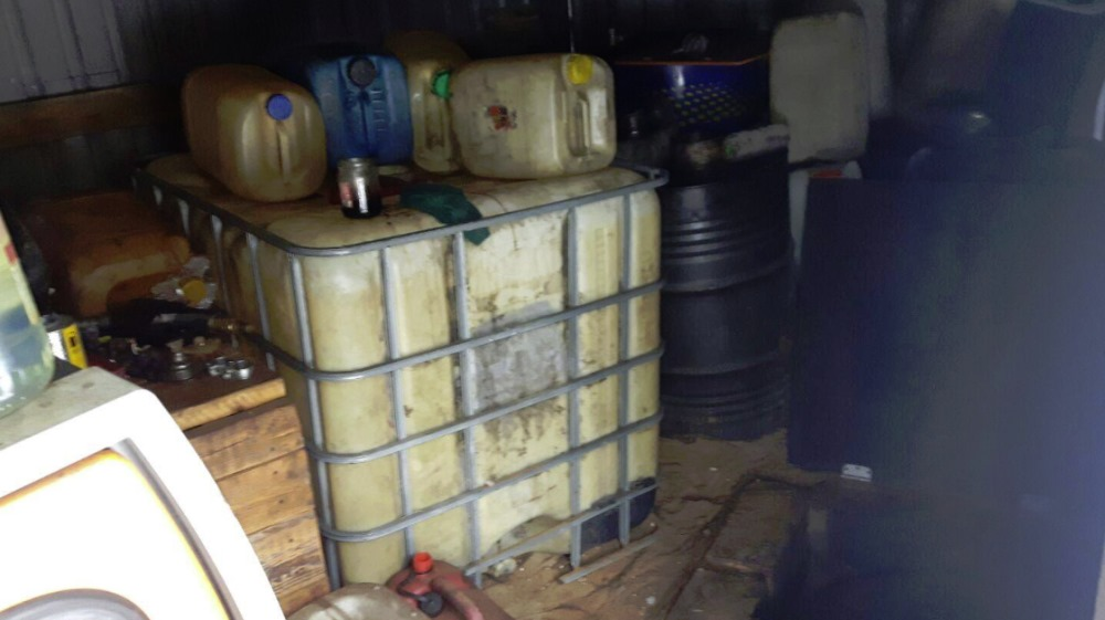 Salaspilī atsavina nelegālu dīzeļdegvielu.
