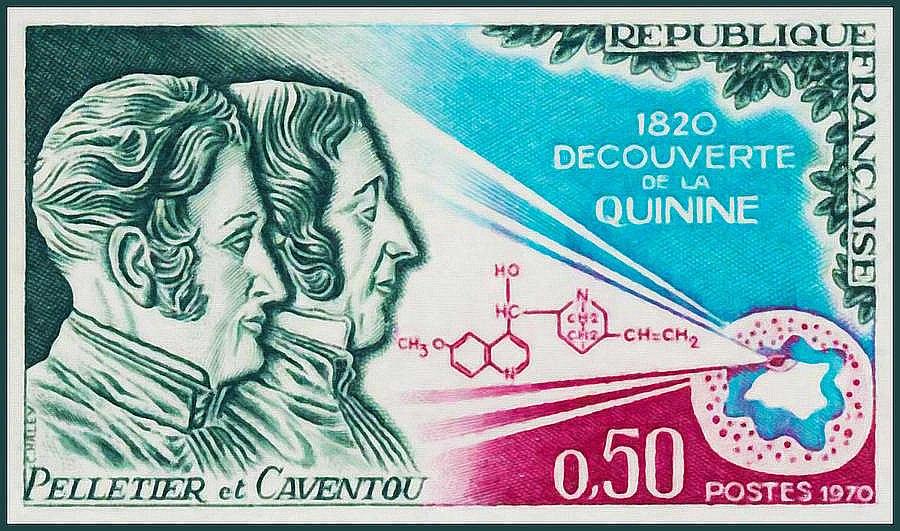 P. Ž. Peletjē un Ž. B. Kaventū veltīta pastmarka.
