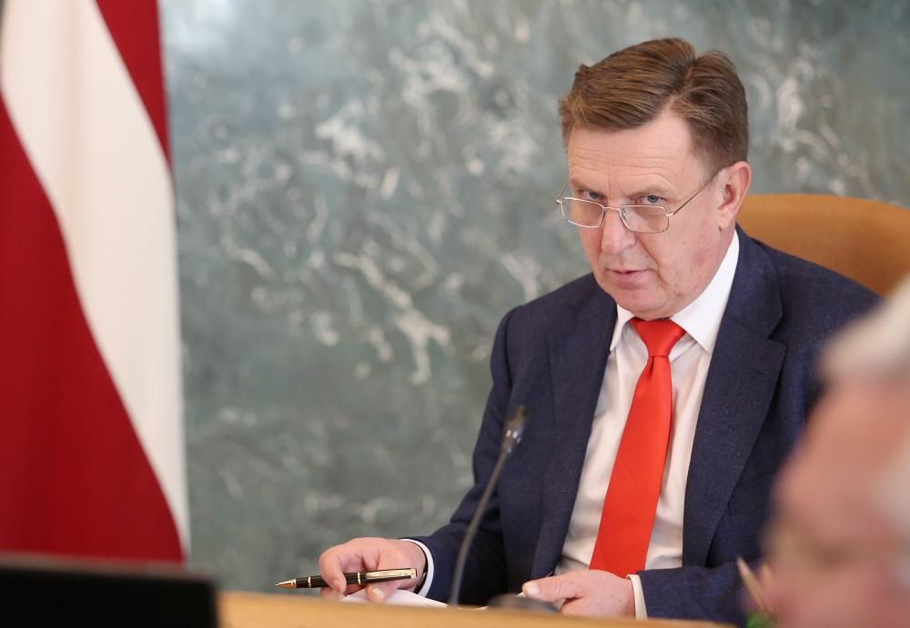 Ministru prezidents Māris Kučinskis valdības sēdē.