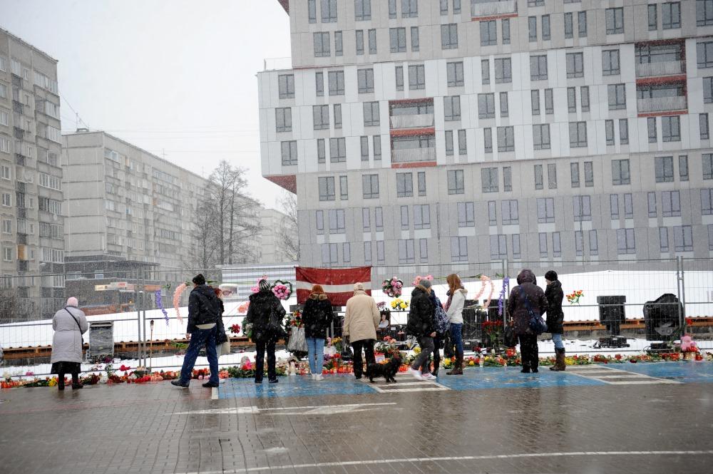 """Traģēdijā """"Maxima"""" Zolitūdē gāja bojā 54 cilvēki, 21.11.2014."""