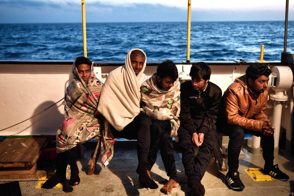 Bēgļi Itālijā, Vidusjūras krastā, 09.05.2018.