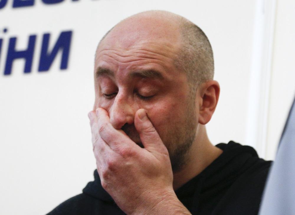 Žurnālists Arkādijs Babčenko ir dzīvs, piedalās preses konferencē, 30.05.2018.