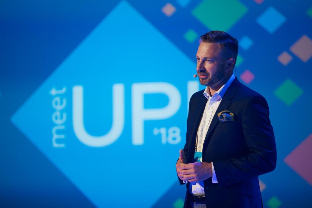 """ELKO direktors Svens Dinsdorfs, atklājot konferenci """"ELKO MeetUP""""."""