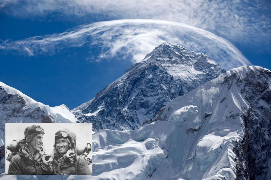 Everests, Edmunds Hilarijs un Tenzings Norgajs.