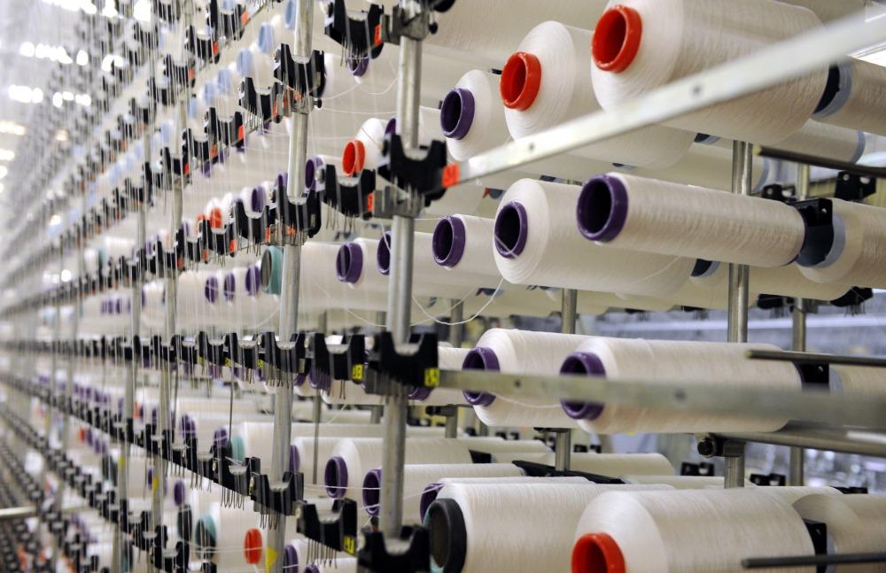 """Arhīva foto. SIA """"Lauma Fabrics"""" ražotne Liepājā."""