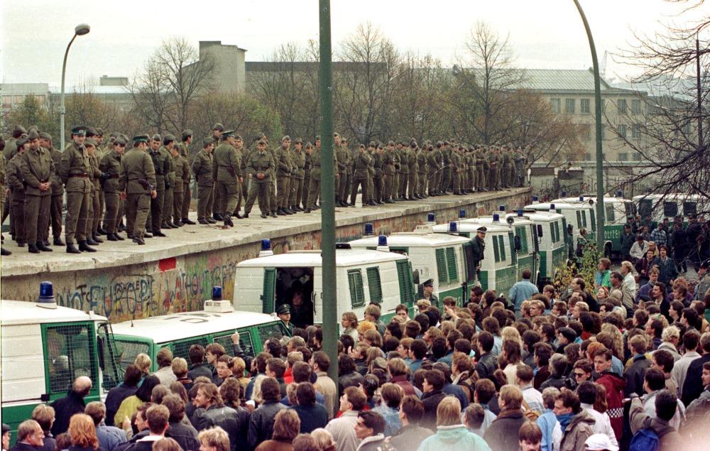 Berlīnes mūris, 1989.gadā.