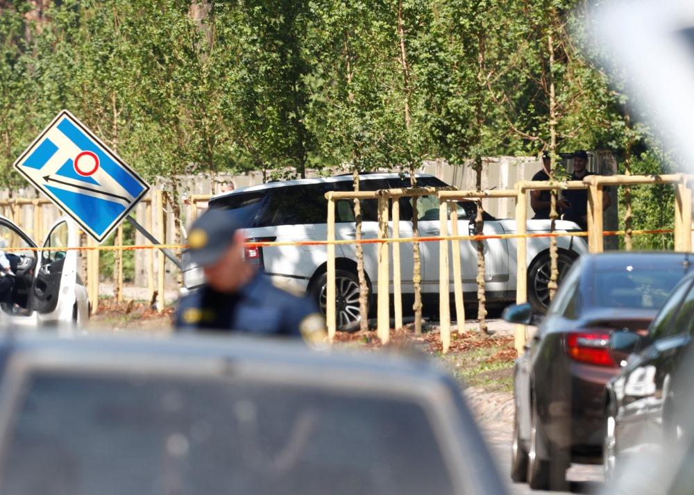 Maksātnespējas administratora Mārtiņa Bunkus slepkavības vieta Rīgā, 30.05.2018.