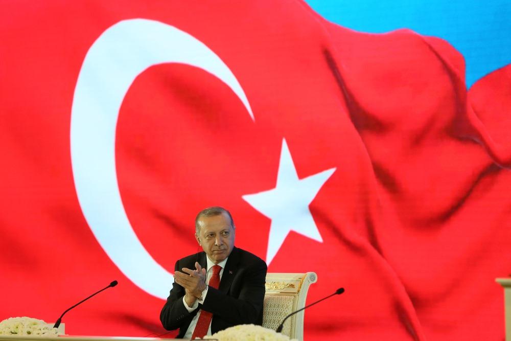 Turcijas prezidents Redžeps Tajips Erdoans,