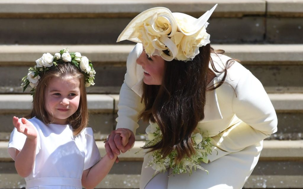 Prinča Viljama sieva Keita Midltone un mazā princese Šarlote.