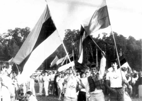 """Baltiešu karogi Viļņas """"Gaudeamus"""""""