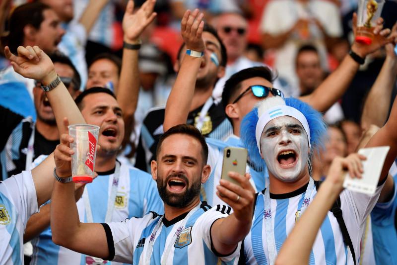 Argentīnas izlases līdzjutēji.