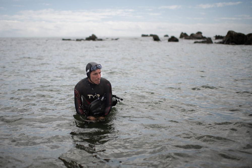 Francūzis Benuā Lekonts iecerējis būt pirmais cilvēks, kurš pārpeldējis Kluso okeānu, 05.06.2018.