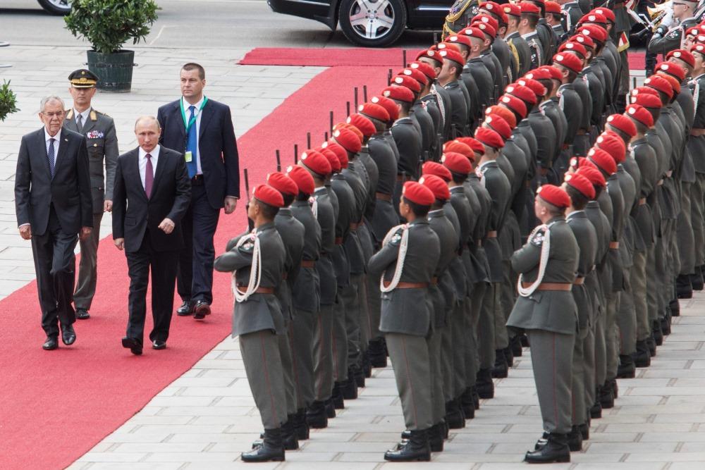 Krievijas prezidents Vladimirs Putins ieradies vizītē Austrijā, 05.06.2018.