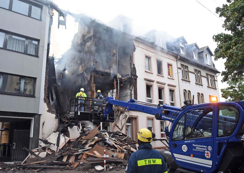 Sprādziens Vācijā, Vupertāles dzīvojamajā mājā, vairāki cilvēki cietuši, 24.06.2018.
