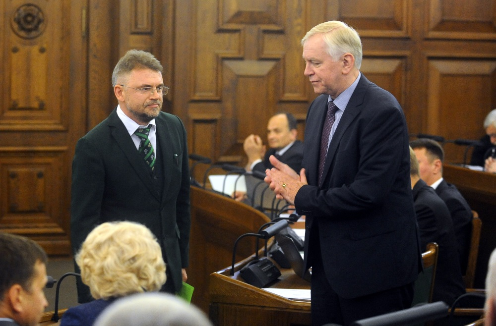 Arhīva foto. Askolds Kļaviņš (foto no kreisās puses).