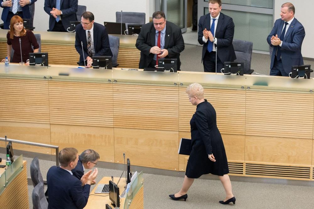 Lietuvas prezidente Daļa Gribauskaite, 12.06.2018.