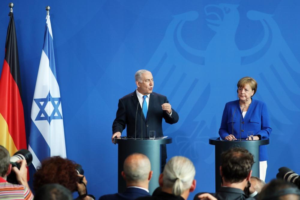 Izraēlas premjerministrs Benjamins Netanjahu tiekas ar Vācijas kancleri Angelu Merkeli, 04.06.2018.