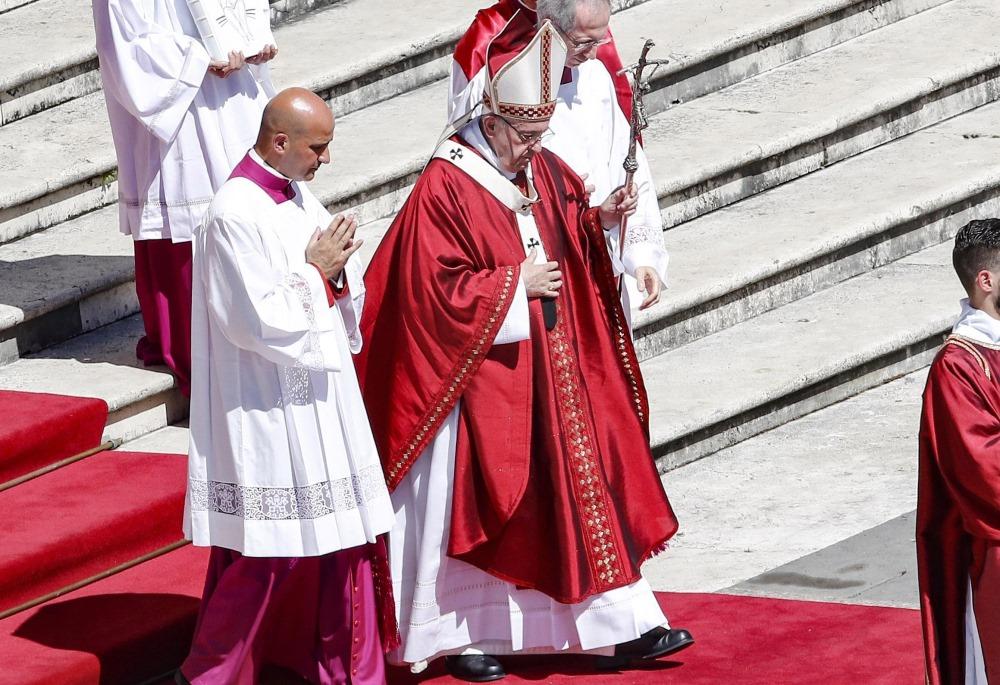 Pāvests Francisks Vatikānā.