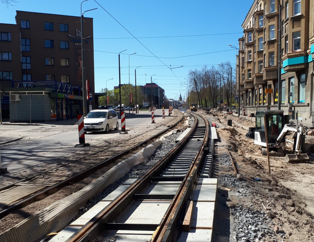 Liepājā Tramvaja tilta remontu cer pabeigt jau līdz 2018.gada 18.novembrim. Foto – Liepāja, 2018