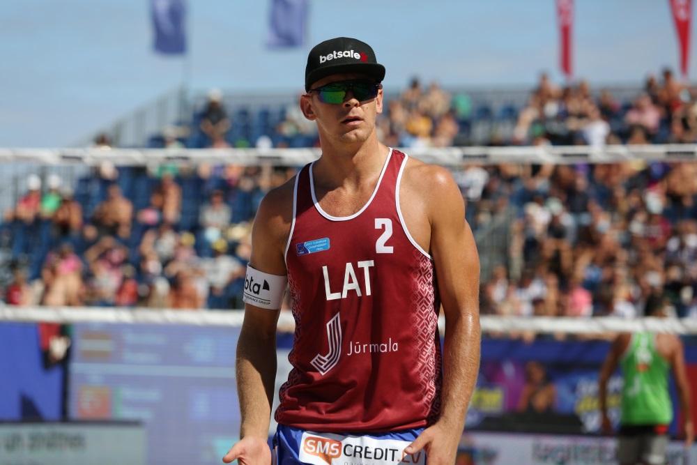 Jānis Šmēdiņš šovasar Eiropas čempionātā Jūrmalā.