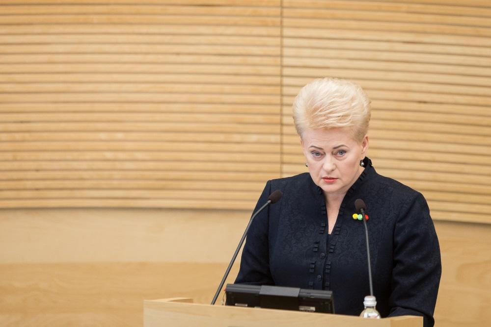 Lietuvas prezidente Daļa Grībauskaite,