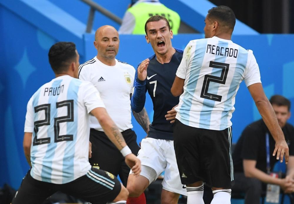 PČ futbolā Francijas izlase uzvar Argentīnu, 30.06.2018.