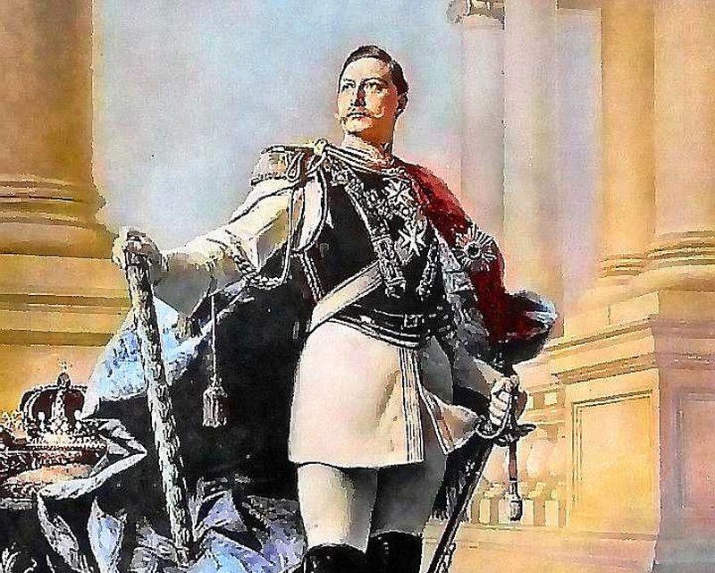 Vilhelms II (1859 – 1941) 19. gs. beigu portretā.