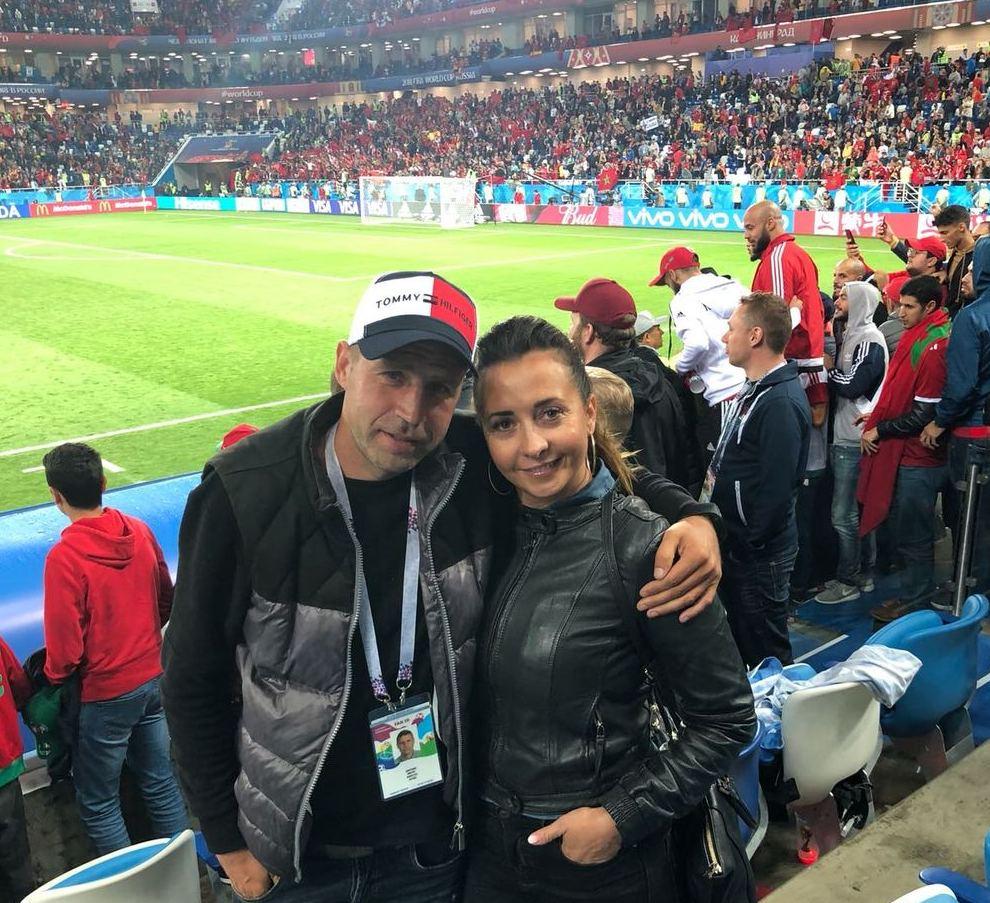 Viktors Dobrecovs ar sievu Irinu.