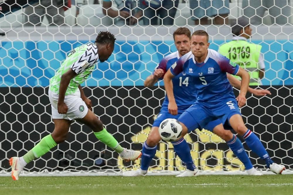 Nigērijas futbola izlase uzvar Islandi PČ futbolā Krievijā, 22.06.2018.