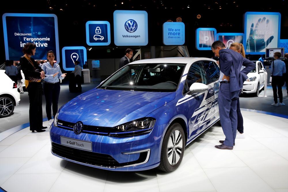 """""""Volkswagen"""" e-Golf Touch prezentācija, 2018.gada maijā."""