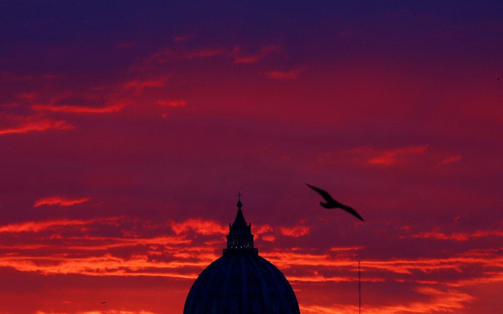 Svētā Pētera bazilika Romā. Foto – REUTERS/Scanpix/LETA