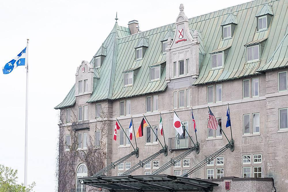 """Viesnīca """"Le Manoir Richelieu"""", kur notiek G7 samits."""