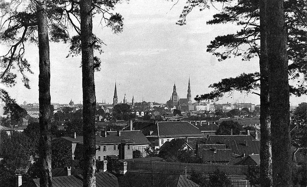 Skats no Dzegužkalna 20. gs. sākumā.