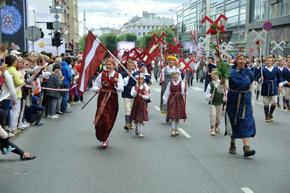 Dziesmu un deju svētku gājiens Rīgā, 01.07.2018.