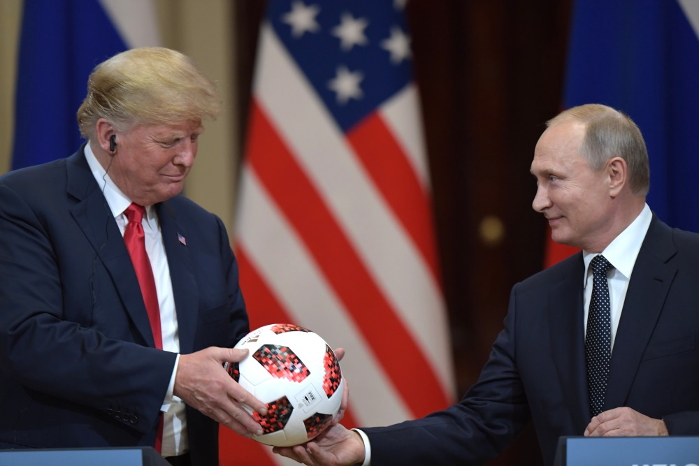ASV prezidenta Donalda Trampa un Krievijas prezidenta Vladimira Putina tikšanās Somijā, 16.07.2018