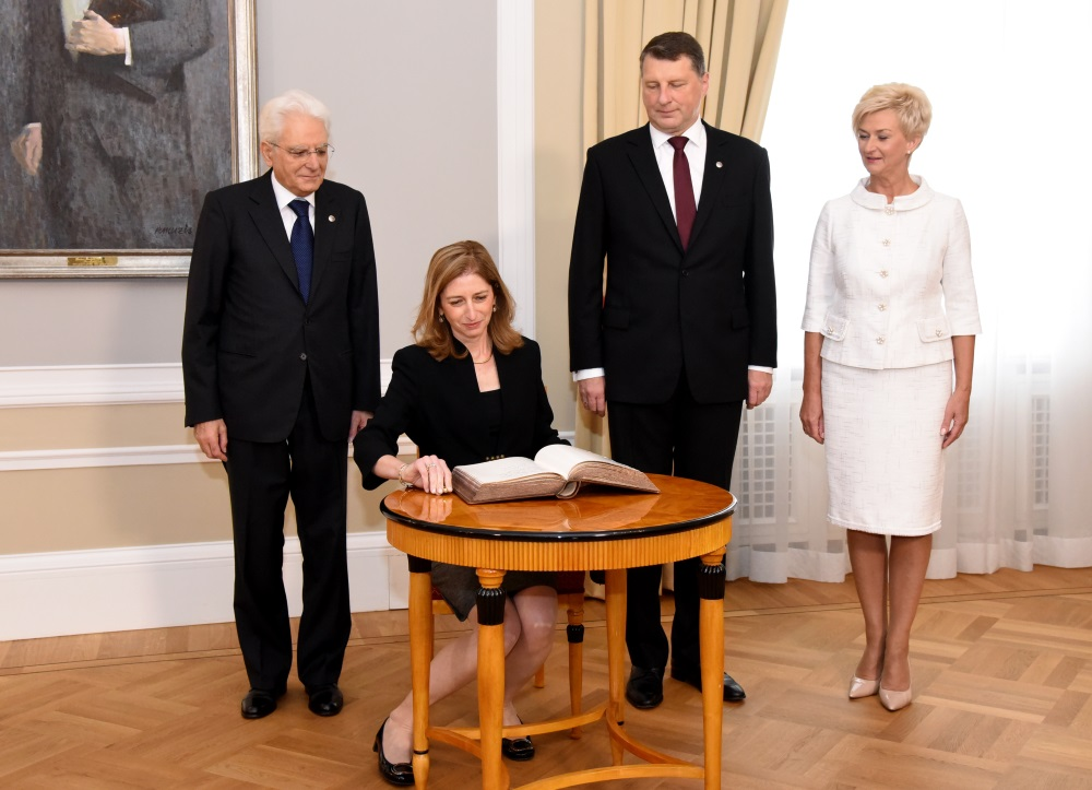 Itālijas prezidents Serdžo Matarella viesojas vizītē Rīgā, 03.07.2018.