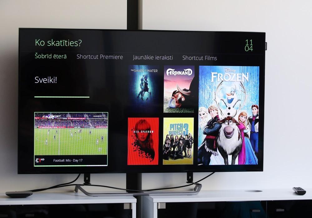 """Ilustratīvs attēls. """"Lattelecom"""" interaktīvā TV """"Helio iTV""""."""