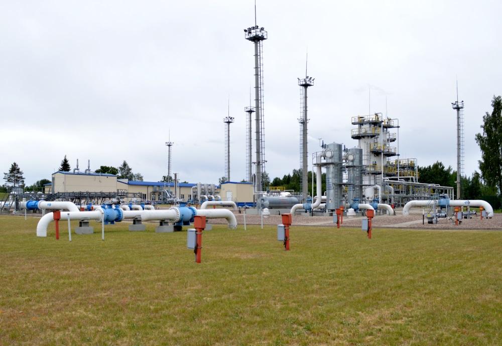 """""""Latvijas Gāzes"""" Inčukalna pazemes gāzes krātuve."""