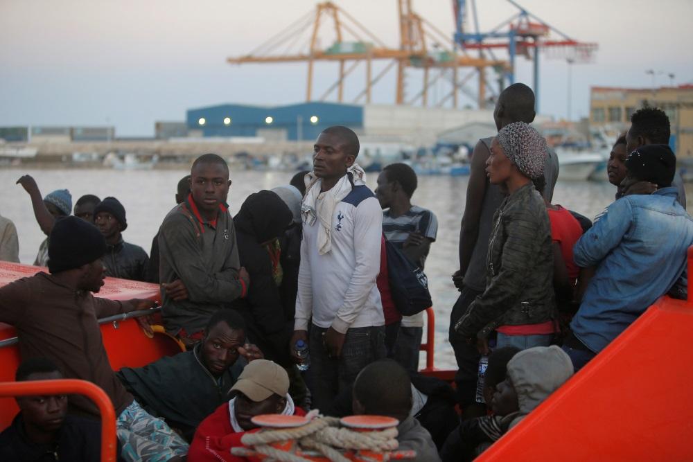 Patvēruma meklētāji ieradušies Malagā, Spānijā, 19.07.2018.