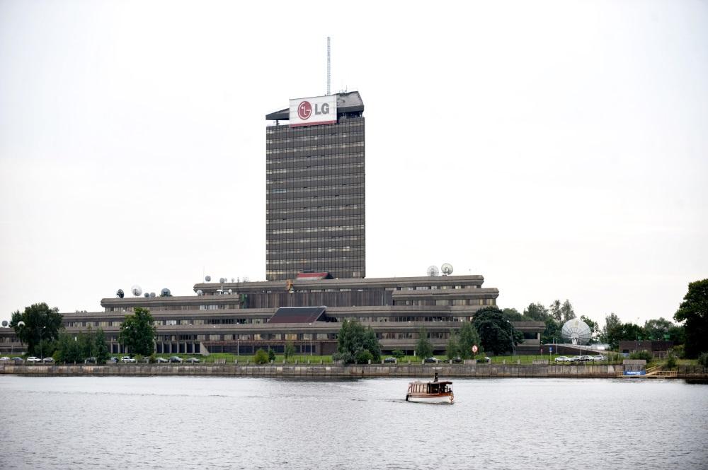 Latvijas Televīzijas ēka Zaķusalā. arhīva foto.
