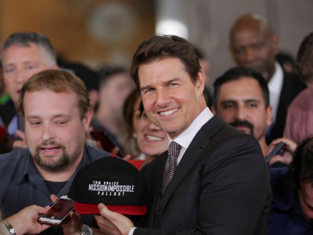 """Toms Krūzs prezentē savu jaunāko filmu """"Neiespējamā misija: sekas"""" Vašingtonā"""