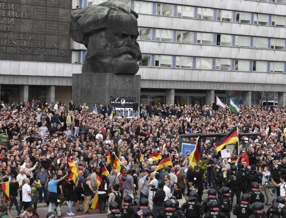 Protesti Kemnicā, Vācijā, 27.08.2018.